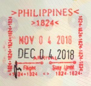フィリピン観光ビザ